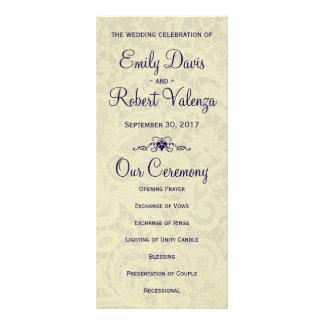 Programa formal del boda de los azules marinos