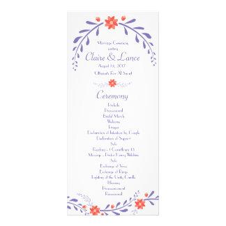 Programa frondoso del boda de la flor