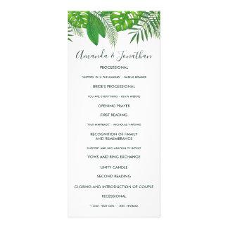 Programa hawaiano del boda de Luau de la hawaiana