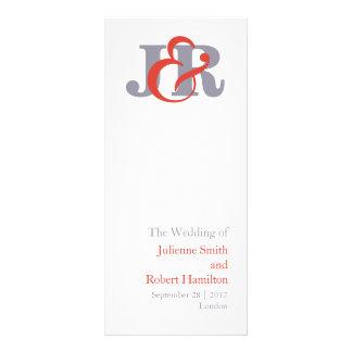 Programa moderno del boda del monograma de la lonas