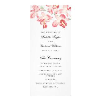 Programa moderno elegante del boda de la orquídea plantillas de lonas