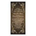 programa real marrón rústico del boda diseños de tarjetas publicitarias