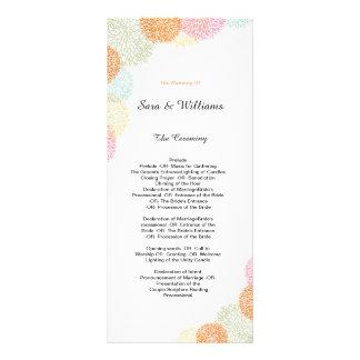 Programa romántico elegante del boda