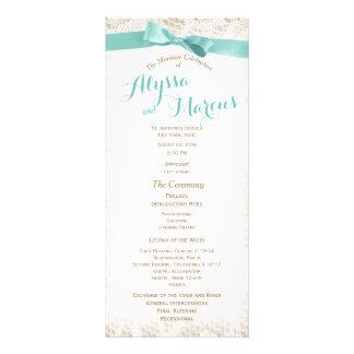 Programa rústico encantador del boda del cordón lonas publicitarias