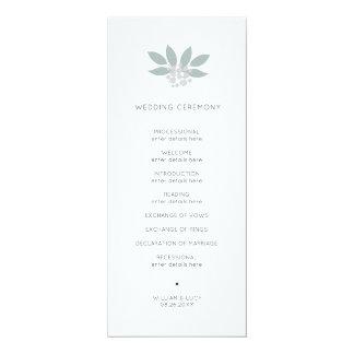 Programa verde del boda del follaje