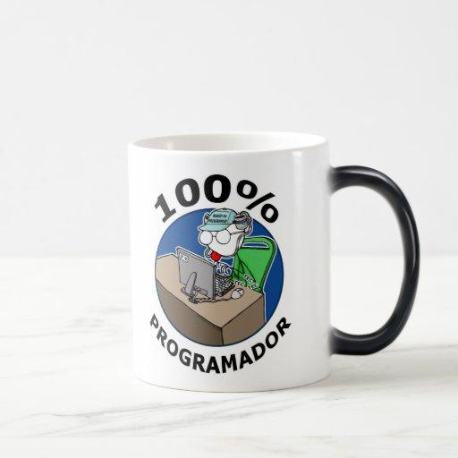 Programador 100% tazas de café