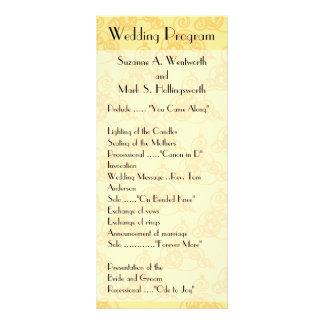 Programas amarillos del boda del cordón, soleados tarjetas publicitarias