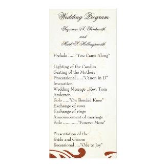 Programas contemporáneos del boda - moreno plantilla de lona