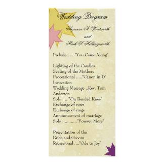 Programas contemporáneos del boda tarjeta publicitaria personalizada