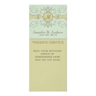 Programas de culto elegantes del boda sabios invitación 10,1 x 23,5 cm