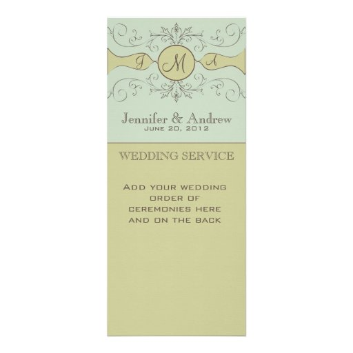 Programas de culto elegantes del boda sabios comunicados personales