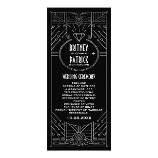 Programas de la bodas de plata negra y del vintage tarjeta publicitaria a todo color