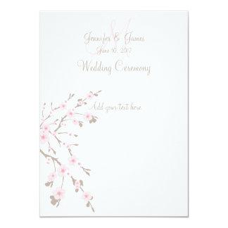 Programas de la iglesia del boda de la flor de invitación