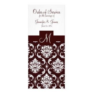 Programas elegantes de la iglesia del boda del dam anuncio