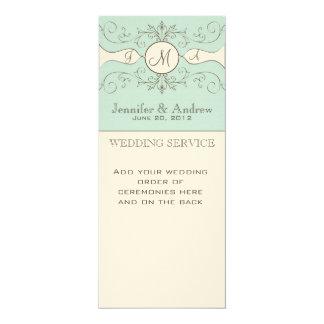 Programas elegantes de la iglesia del boda invitación 10,1 x 23,5 cm
