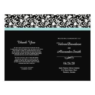 Programas elegantes del boda de la ceremonia del