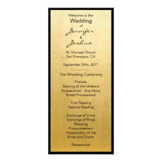 Programas elegantes del boda del diseño del negro tarjeta publicitaria a todo color