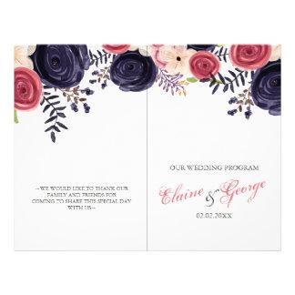 programas florales de ruborización del boda de la folleto 21,6 x 28 cm