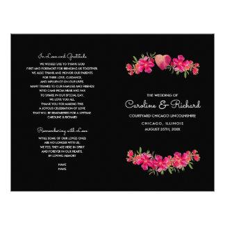 Programas florales del boda de la pintura de la