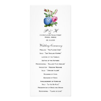 Programas florales del boda de los rosas del