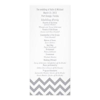 Programas grises de encargo del boda de Chevron