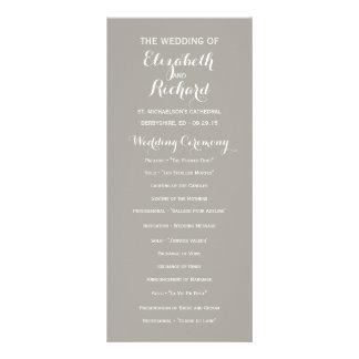 Programas minimalistas modernos grises del boda plantilla de lona