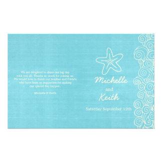 Programas poner crema azules de la estrella de mar tarjetón
