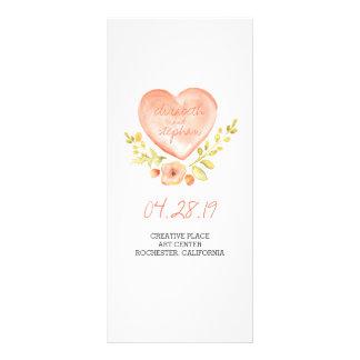 Programas rústicos del boda de la acuarela tarjetas publicitarias