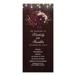Programas rústicos florales del boda de la caída