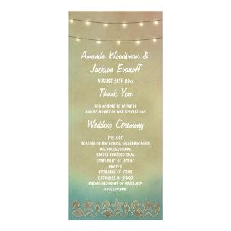 Programas tropicales del boda del Seashell de la Tarjeta Publicitaria Personalizada
