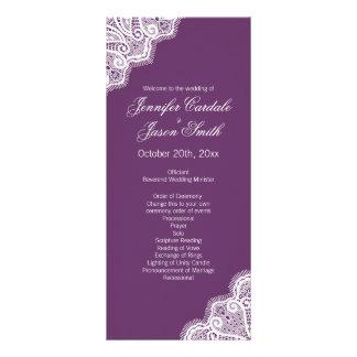 Programas verticales del boda del borde púrpura lonas