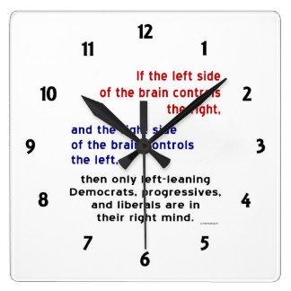 Progresistas en mente correcta reloj cuadrado