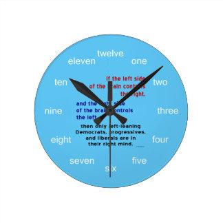 Progresistas en mente correcta reloj redondo mediano