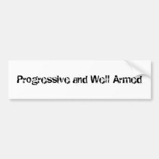 Progresivo y bien armado pegatina para coche