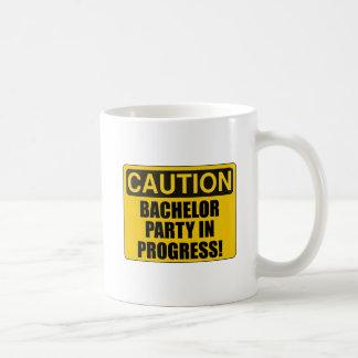 Progreso de la despedida de soltero de la taza de café
