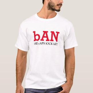 prohíba la llave de cerradura de casquillos camiseta