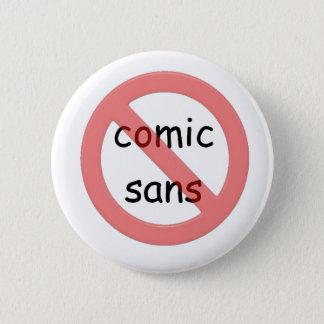 Prohibición cómica sin el botón