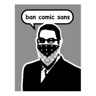 Prohibición cómica sin la postal