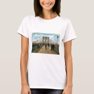 """""""promenade"""" del puente de Brooklyn, New York City Camiseta"""