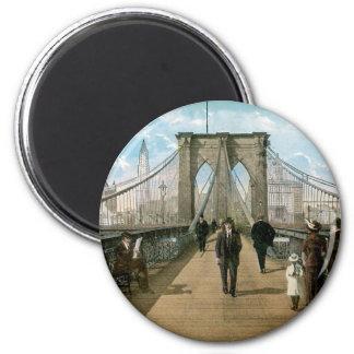 """""""promenade"""" del puente de Brooklyn, New York City Imán"""