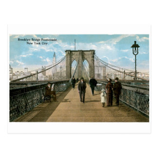 """promenade"" del puente de Brooklyn, New York City Postal"