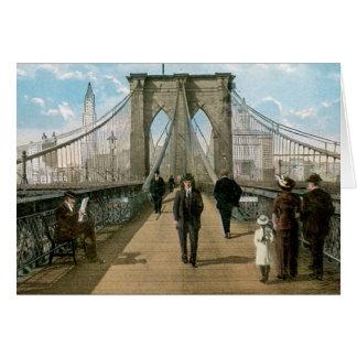 """""""promenade"""" del puente de Brooklyn, New York City Tarjeta De Felicitación"""