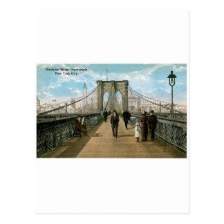 """""""promenade"""" del puente de Brooklyn, New York City Tarjeta Postal"""