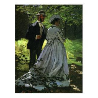 Promenaders de Monet, arte del impresionismo del Tarjetas Postales