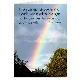 Promesa del arco iris - génesis 9 tarjetas de