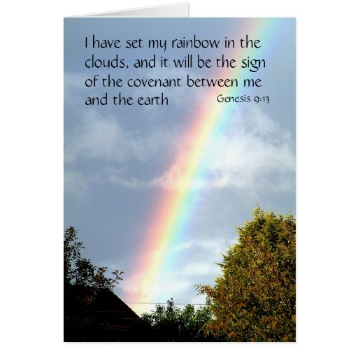 Promesa del arco iris - génesis 9 tarjetas de feli