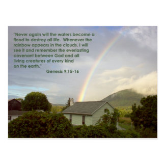 Promesa del arco iris postal
