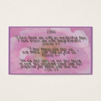 Promesas de dios en amor tarjeta de visita