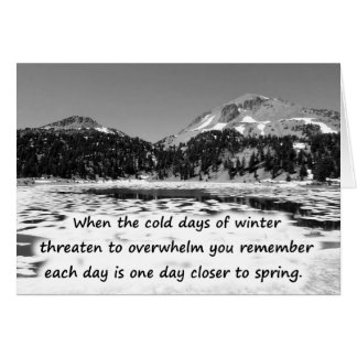 Promesas del invierno tarjeta de felicitación