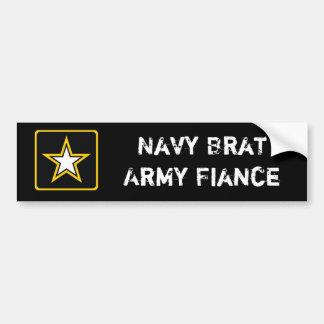 Prometido del ejército pegatina para coche
